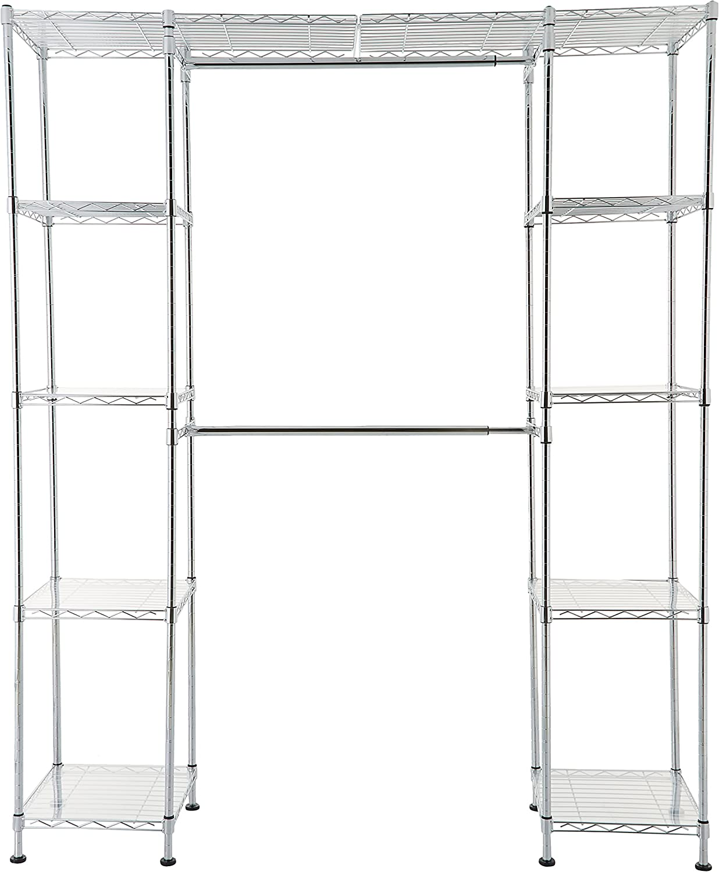 Amazon Basics Expandable Regular dealer Metal Hanging Organizer Max 73% OFF Wa Rack Storage