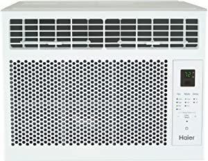 Haier 6,000 BTU Electronic Window Air Conditioner for Small Rooms up to 250 sq ft, 6000 115V, White