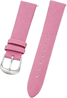 Stuhrling Original ladies 18mm pink satin twill covered leather strap with quick change pins steel buckle st.109SW.1215A2