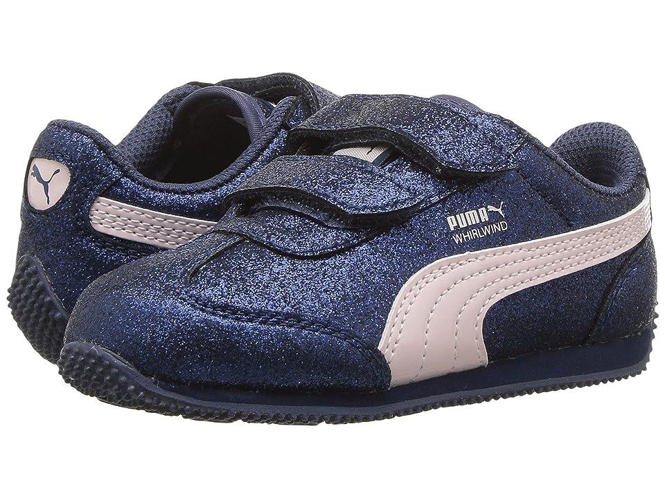 Puma Kids Whirlwind Glitz V (Toddler) (Sargasso Sea/Pearl) Girls Shoes