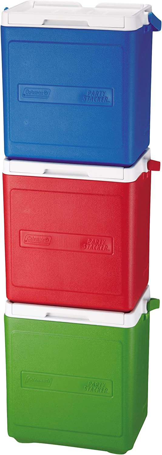 Amazon Com Coleman 20 Can Party Stacker Cooler Diaper Stackers Sports Outdoors