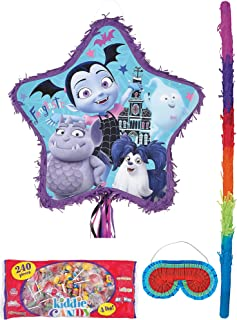 Party City Pull-String Vampirina Pinata Supplies, Include a Pinata, a Pinata Stick, a Blindfold, and 4 Pounds of Candy