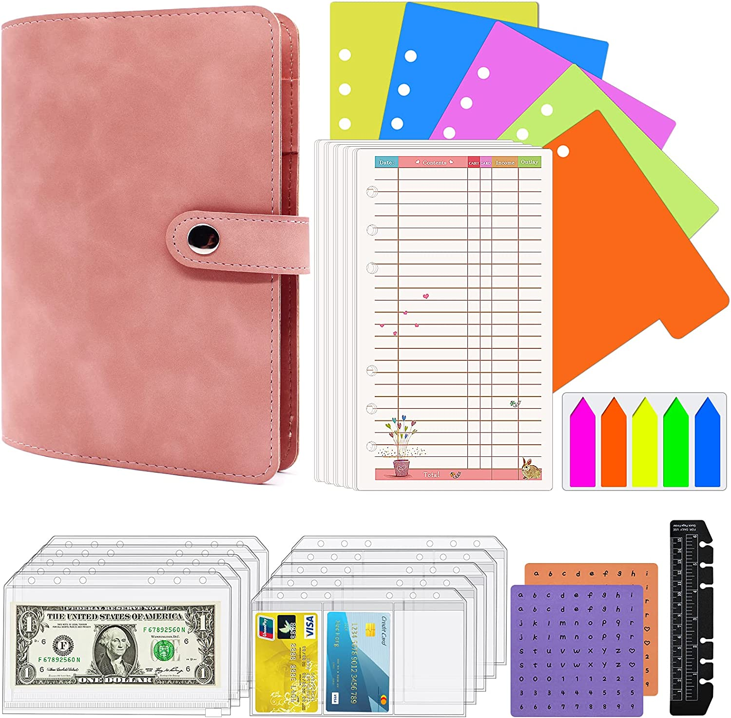 Ranking TOP3 Gorgeous 39 Pces A6 Binder Pockets Budget Cash Envelopes with for
