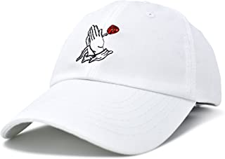 new product e91f4 9630c DALIX Prayer Hands Hat Baseball Cap Rose Dad Hats Black White Pink Blue  Gray Tan