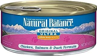 Natural Balance Original Ultra Whole Body Health Wet Cat Food, Chicken, Salmon & Duck