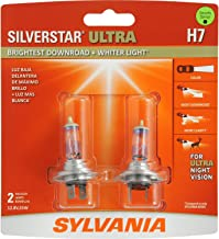 SYLVANIA - H7 SilverStar Ultra - High Performance Halogen Headlight Bulb, High Beam, Low Beam and Fog Replacement Bulb, Brightest Downroad with Whiter Light, Tri-Band Technology (Contains 2 Bulbs)