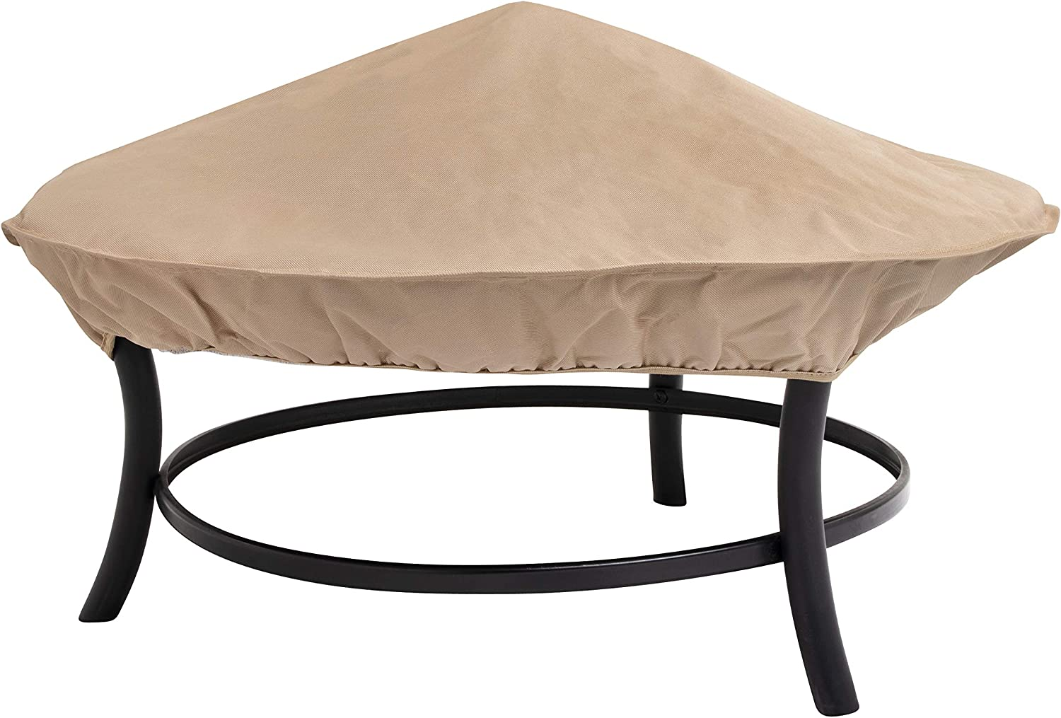 Modern Leisure Water-Resistant 35 in Fire Opening large release sale Max 68% OFF Beig Patio Cover Pit