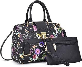 Women Barrel Handbags Purses Fashion Satchel Bags Top Handle Shoulder Bags Vegan Leather Work Bag