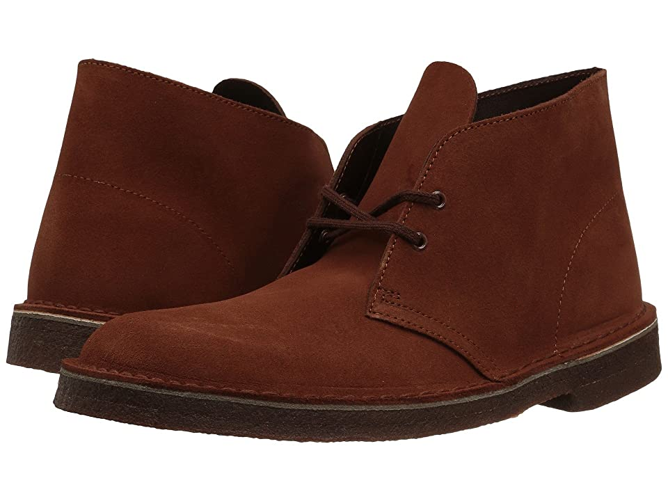 Clarks Desert Boot (Mahogany Suede) Mens Lace-up Boots