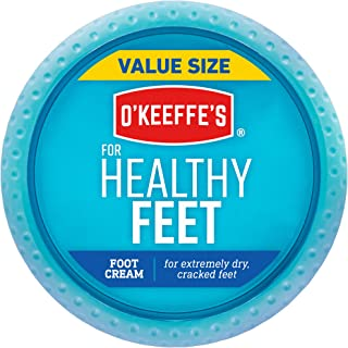 O'Keeffe's Healthy Feet Foot Cream, 6.4 Oz Jar, White (104042)