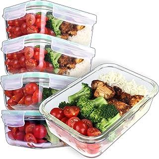 comprar comparacion GOOD FOR YOU Recipientes de Vidrio para la preparación de Comidas - Recipientes De Vidrio con Tapas Horno y congelador Seg...