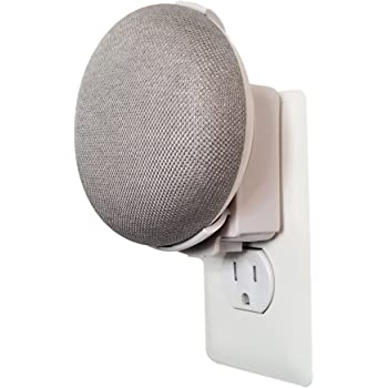 Dot Genie Google Home Mini (1st Gen) Backpack: The Simplest and Cleanest Outlet Wall Mount Hanger Stand for Home Mini (1st Gen) - No Cord Wrapping Required - Designed in USA (White)