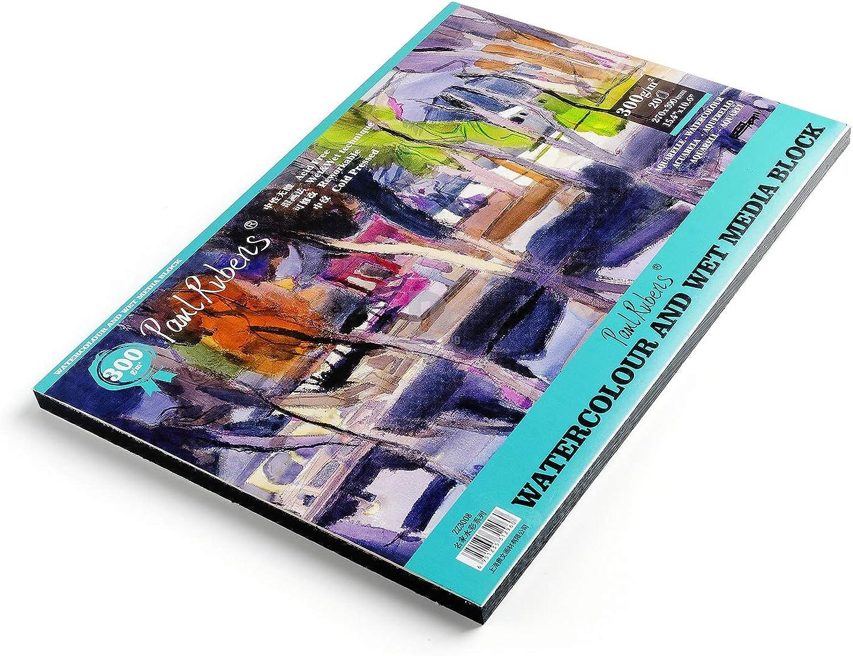 Paul Rubens-Grad Aquarell Papier Pad Papiermedien säurefrei und 100% 100% 100% Baumwolle Heiß kalt gepresstes Aquarell und nasse Medien-Auflage - 20 Blätter (15.4 x 10.6 inch-Coldpressed) B07GDHS3JD   Um Sowohl Die Qualität Der Zähigkeit Und Härte  5aa66e