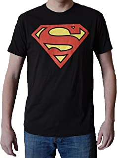 Superman Classic Logo Men's Black T-Shirt