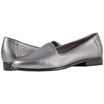 Trotters Liz Tumbled (Pewter Very Soft Tumbled Leather) Women