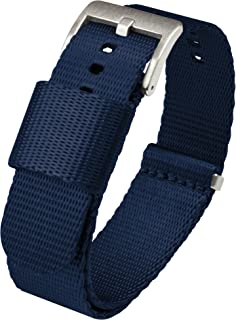 Barton Jetson NATO Style Watch Strap - 18mm, 20mm, 22mm or 24mm - Seat Belt Nylon Watch Bands