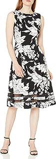Calvin Klein Women's Sleeveless Midi Dress with Illusion Hem Detail