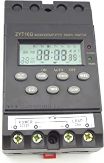 MISOL 12V Timer Switch Timer Controller LCD display,program/programmable timer switch,25A amps