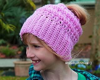 crochet katniss messy bun hat