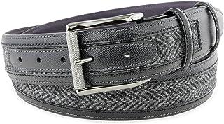 Elliot Rhodes Mens Vintage Feel Leather Belt Black