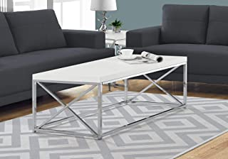 Monarch Specialties Modern Coffee Table for Living Room Center Table with Metal Frame, 44..