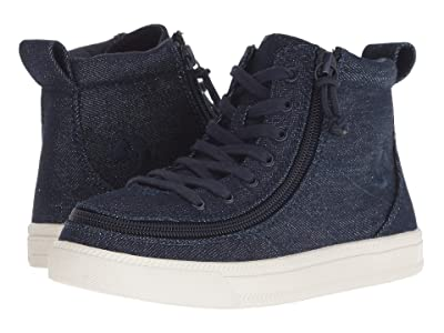 BILLY Footwear Kids Classic Lace High (Toddler/Little Kid/Big Kid) (Blue Denim Glitter) Girls Shoes