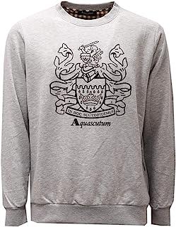 Aquascutum 2609AE Felpa Uomo Grey Melange Cotton Sweatshirt Man