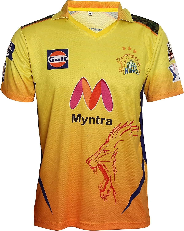 KD IPL Cricket Jersey CSK Colorado Springs Mall Team Supporter Half Fees free!! T-Shirt 21-22 Fu
