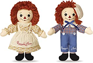 Aurora World Limited Edition Boxed Set Asleep/Awake Vintage Raggedy Ann and Raggedy Andy Dolls, 12