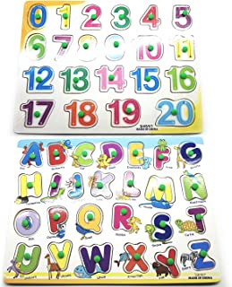 Wooden Alphabet/Numbers Puzzle Board