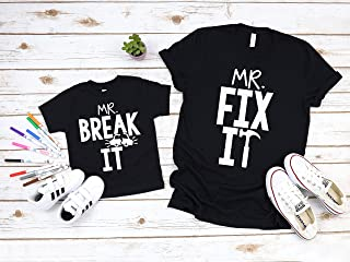 Daddy and Me Shirts Matching Dad Shirts Father Son Shirts Fathers Day Shirts Dad Fishing Shirt Father Son Mr Fix It Mr Break It