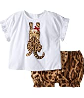 Dolce & Gabbana Kids - Zambia T-Shirt/Shorts One-Piece (Infant)