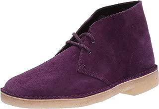 purple clarks desert boots