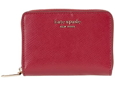 Kate Spade New York Spencer Zip Card Case (Red Currant) Handbags