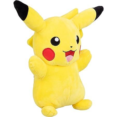 Wicked Cool Toys, LLC- Peluche Pokémon Pikachu 30 cm, 95251, Jaune