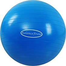 BalanceFrom Anti-Burst and Slip Resistant Exercise Ball Yoga Ball Fitness Ball Birthing Ball with Quick Pump, 2,000-Pound ...