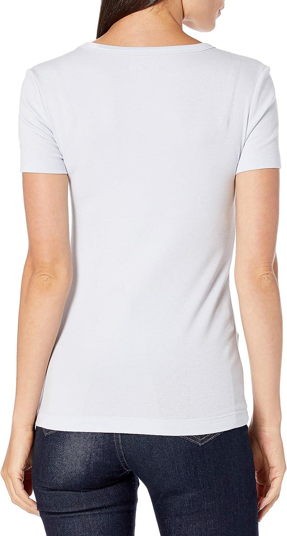 Essentials Damen 2-Pack Slim-Fit Short-Sleeve Crewneck T-Shirt