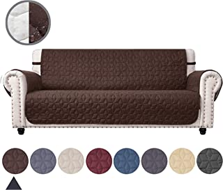 Ameritex Couch Sofa Slipcover 100% Waterproof Nonslip Quilted Furniture Protector Slipcover for Dogs, Children, Pets Sofa Slipcover Machine Washable (Chocolate, 78'')