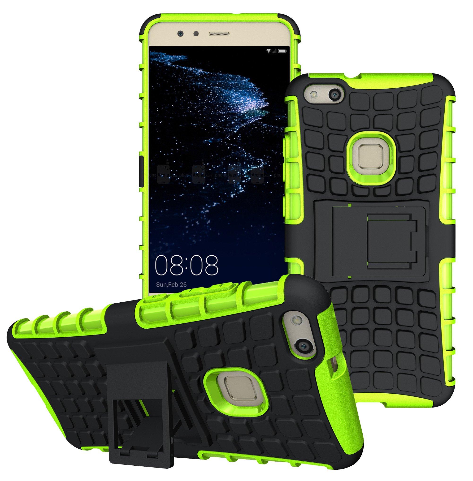 Huawei P10 Lite Funda, FoneExpert® Heavy Duty silicona híbrida con soporte Cáscara de Cubierta Protectora de Doble Capa Funda Caso para Huawei P10 Lite: Amazon.es: Oficina y papelería