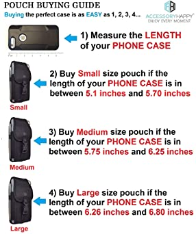 AH Military Grade Nylon Cell Phone Belt Holder for Men Android Pouch Carrying Clip for [iPhone 6 6S 7 8 X XR XS 11 12...
