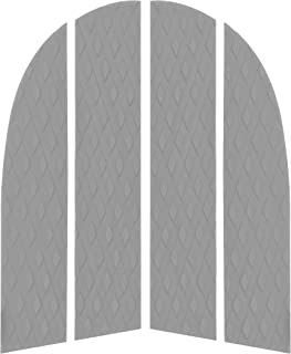 Punt Surf Dog Traction Pad with 3M Adhesive - 4 Piece Customizable Deck Grip for The Nose of Your Paddleboards Longboard & Surfboard. - Guaranteed to Stick Forever on Your Board