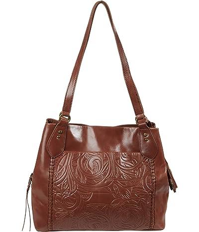 The Sak Melrose Satchel (Teak Leaf Embossed) Handbags