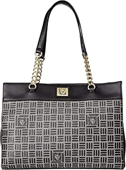 Lion Logo Chain Tote Triple Compartment