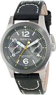 Women's 14144 I-Force Charcoal Grey Dial Black Leather Watch