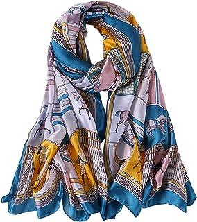ALBERTO CABALE Long Stole Accessory Reception Silk Comfortable Horses Women Fashion Luxury Shawl Elegance Hair