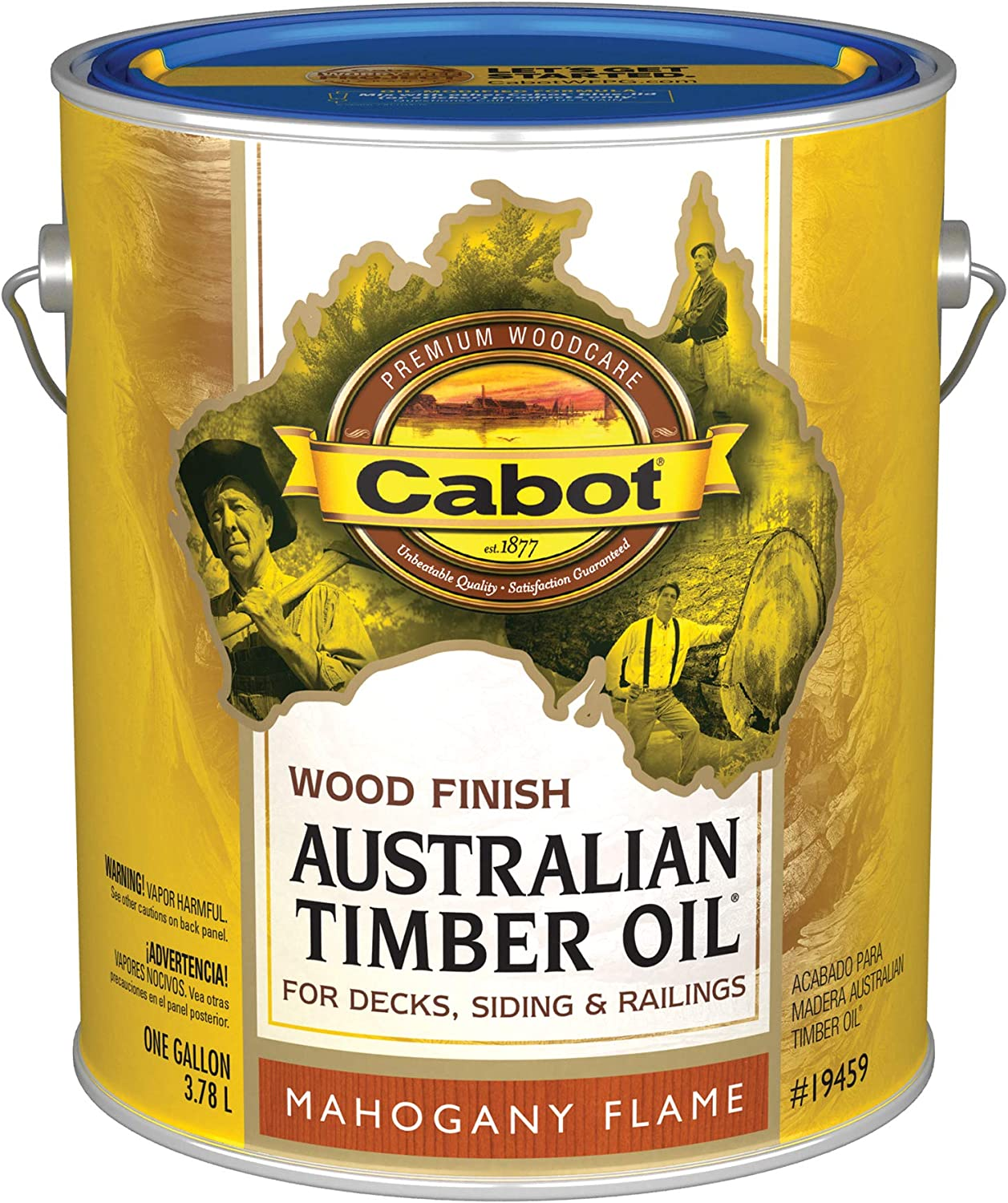 Large discharge sale Cabot 19459-07 Samuel INC Timber Gallon Flame 2021 model Oil Mahogany