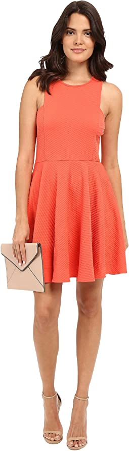 Kennet Textured Knit Fit and Flare Dress