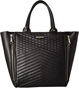 Multi Quilted Zipper Tote