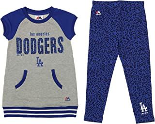 Outerstuff MLB Little Girl's (4-7) Cheer Loud Legging Set, Los Angeles Dodgers Medium (5-6)