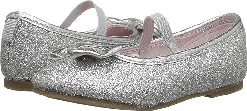 Silver Metallic PU/Glitter PU